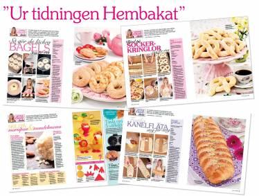 Mina bakskolor med steg-för-steg bilder hittar ni i varje nummer av tidningen Hembakat.