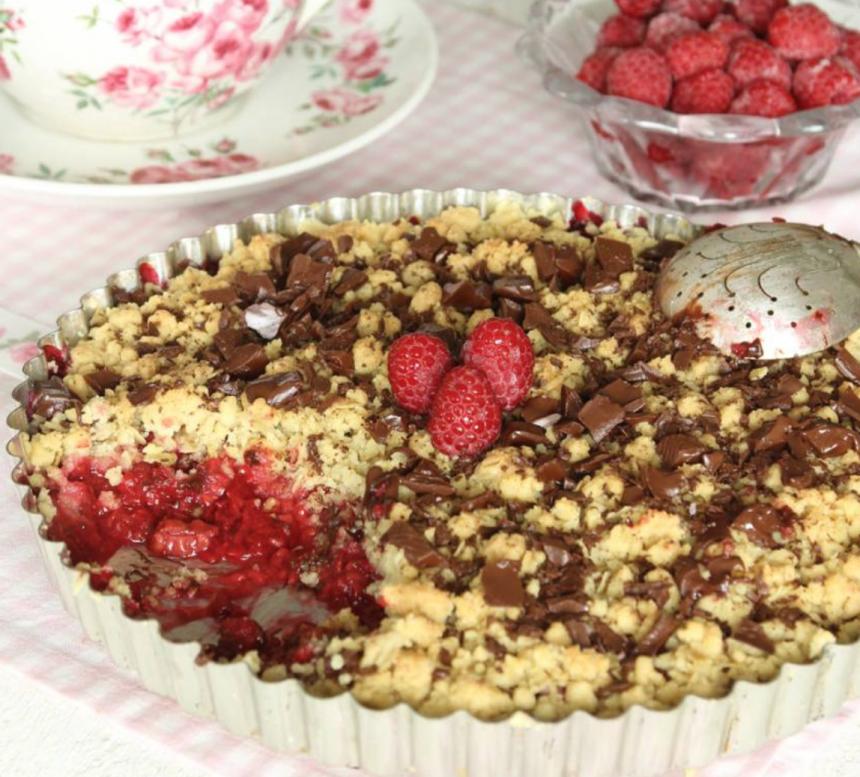 Hallon- & chokladpaj – klicka här för recept!