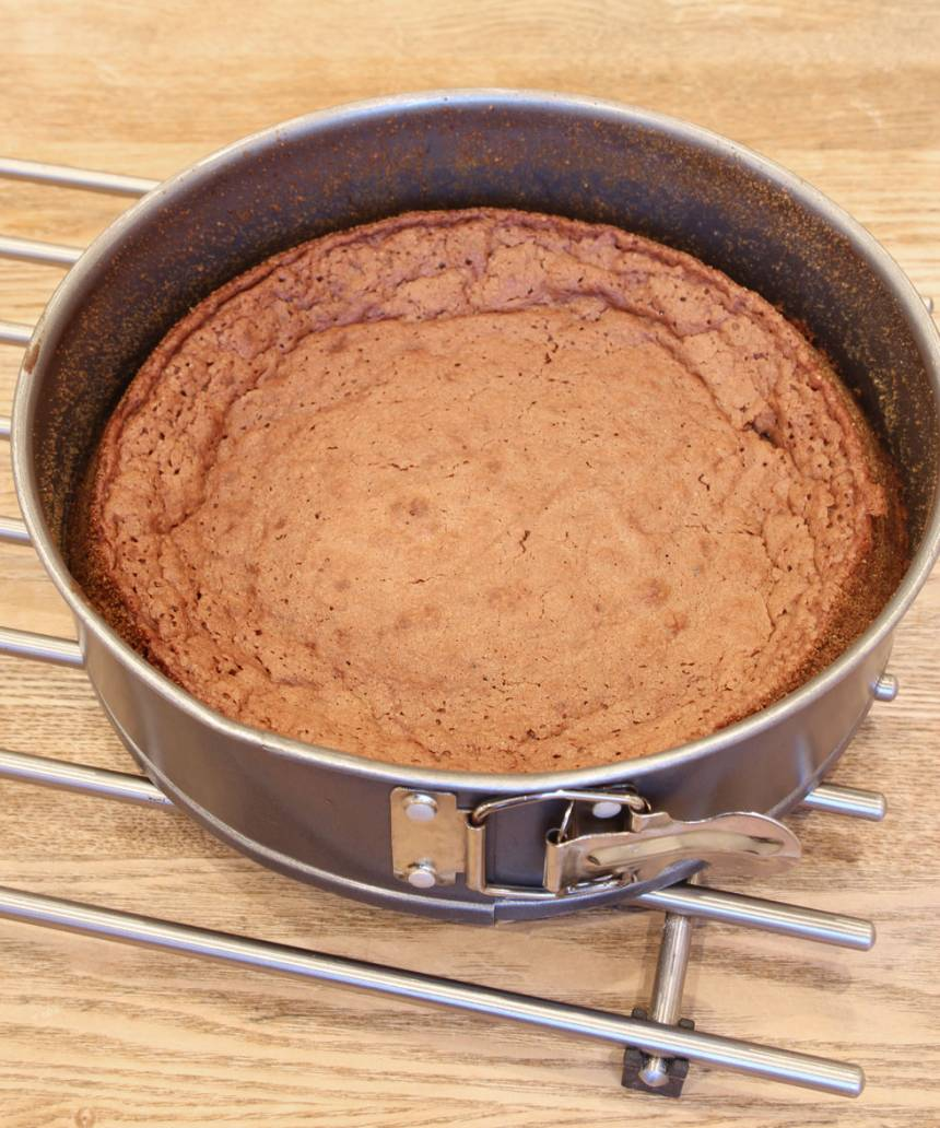 3. Grädda kakan mitt i ugnen 22–24 min. Låt den kallna helt i formen.