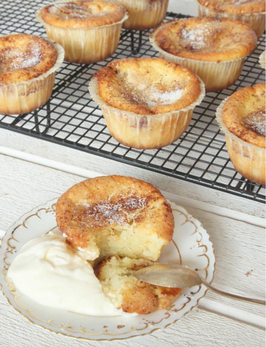 Baka lätt kladdiga kanelbullemuffins –klicka här för recept!