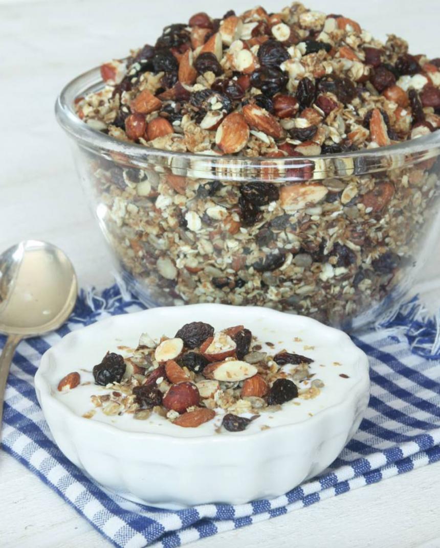 Nyttig, rostad granola utan socker –klicka här för recept!