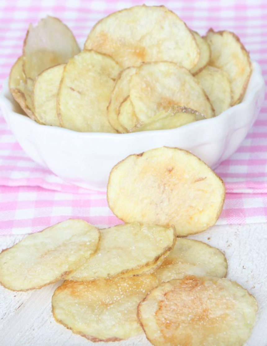 Gör lövtunna, knapriga, supergoda chips i mikron på bara 5 min! Klicka här för recept!