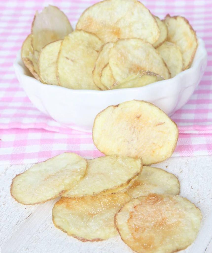 Underbart goda knapriga, salta chips i mikron på 5 min –klicka här för recept!