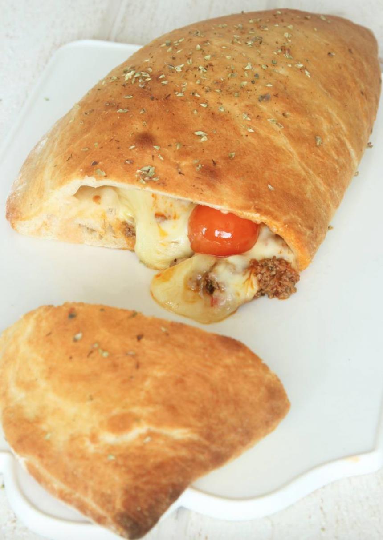 Underbart god köttfärscalzone –klicka här för recept!