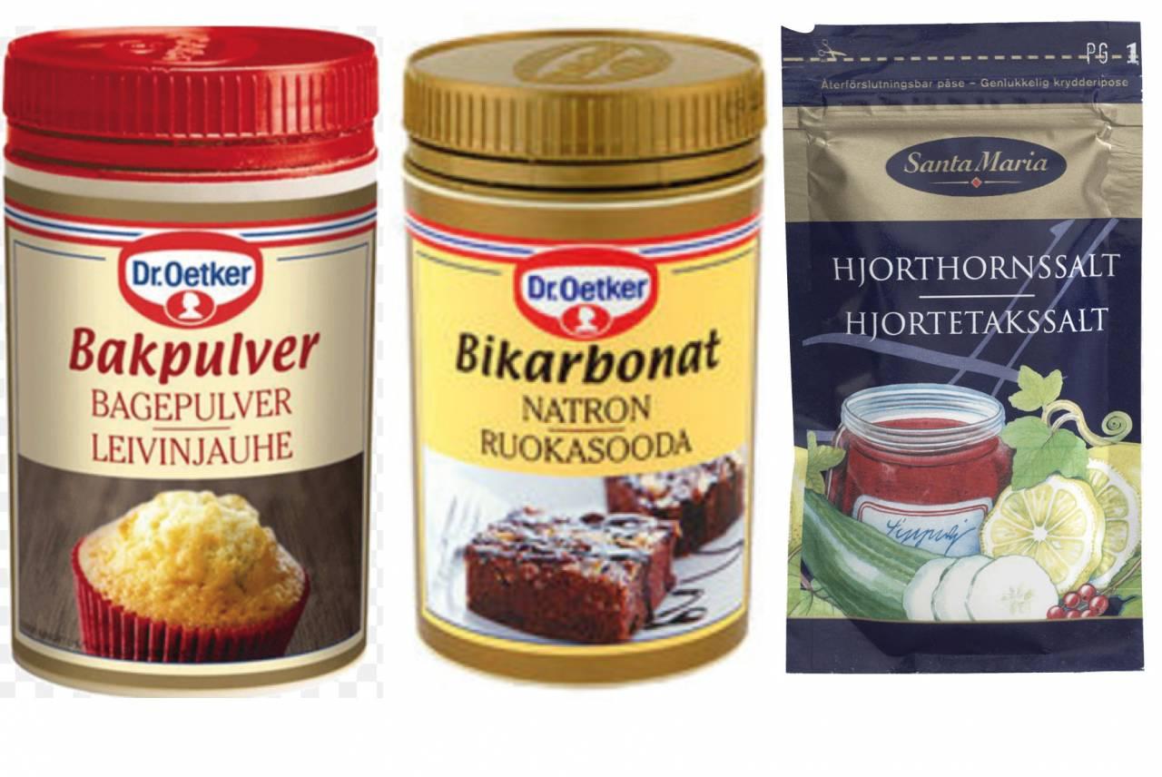 bikarbonat eller bakpulver