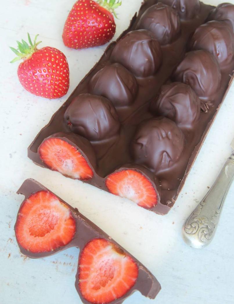 Superläcker, lättgjord jordgubbschokladkaka!