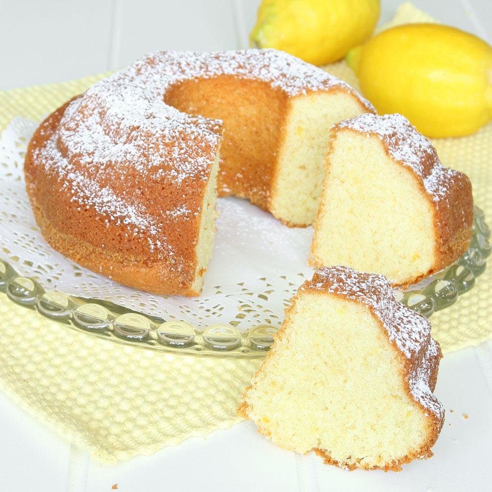 sockerkaka med citronsaft
