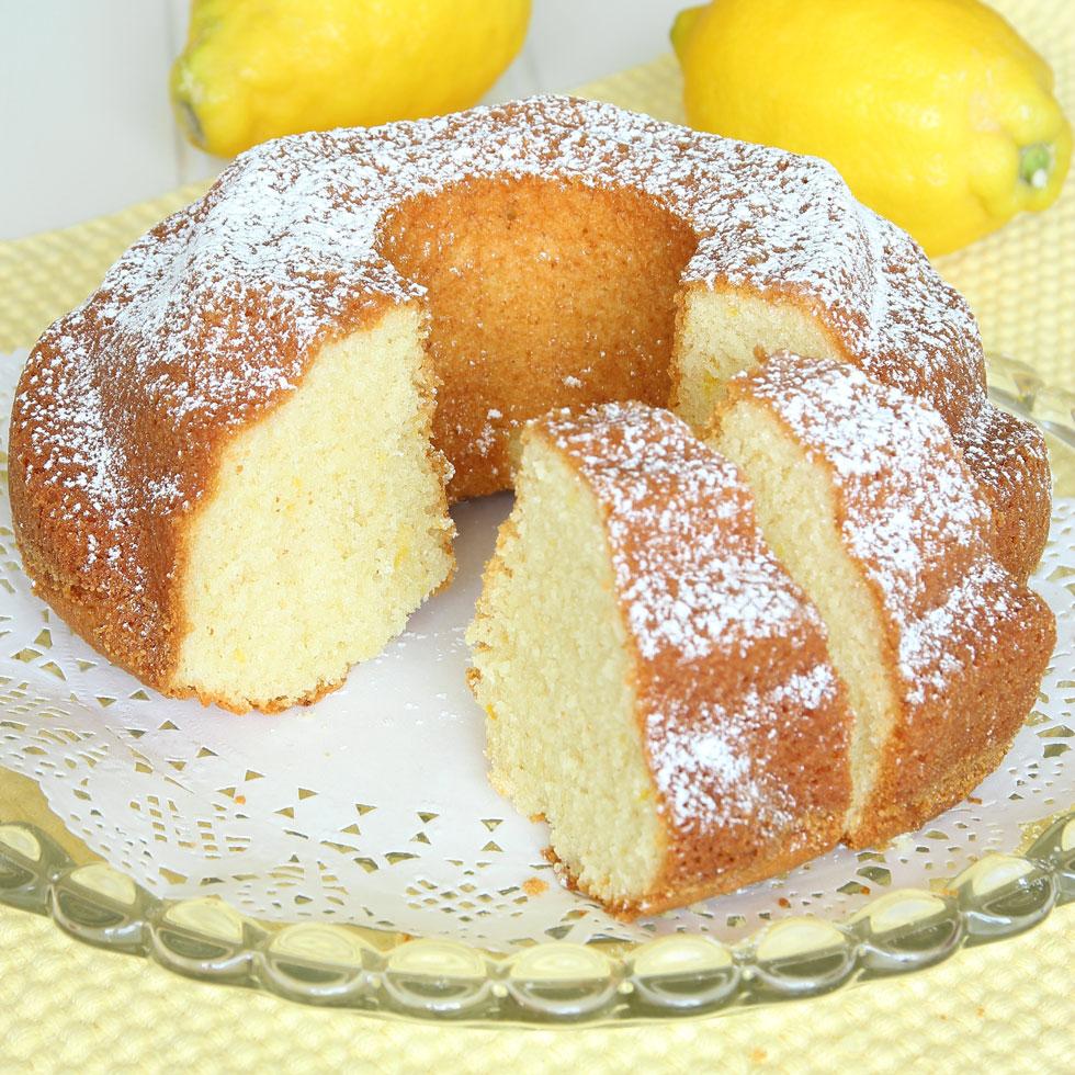 saftig sockerkaka med citron