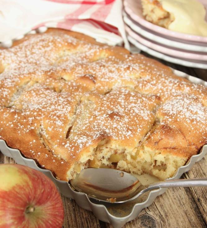 Superläcker, snabbgjord äppelkaka –klicka här för recept!