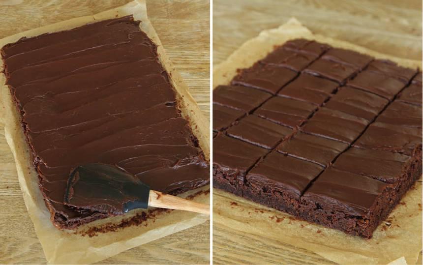 5. Bred ut tryffeln på kakan när kakan kallnat.